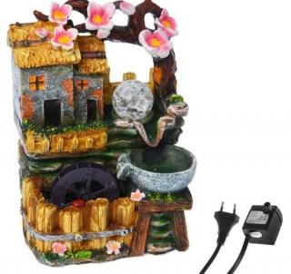 Фонтан декоративный «Домик у цветущего дерева» световой Минск +375447651009