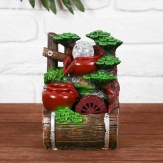 Фонтан декоративный «Два кувшина у мельницы» световой купить в Минске +375447651009