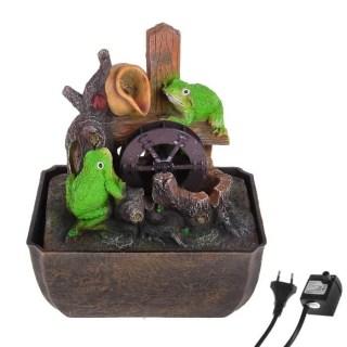 Фонтан декоративный 'Игривые лягушата' световой купить