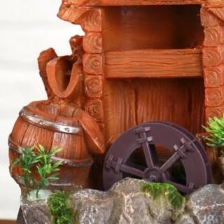 Фонтан декоративный «Избушка у мельницы» с подсветкой купить в Минске +375447651009