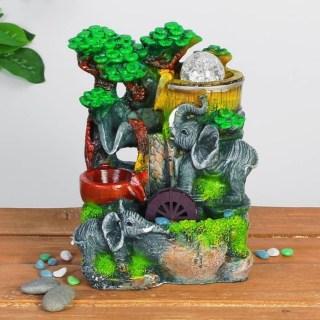 Фонтан декоративный 'Прекрасные слоны' световой купить Минск