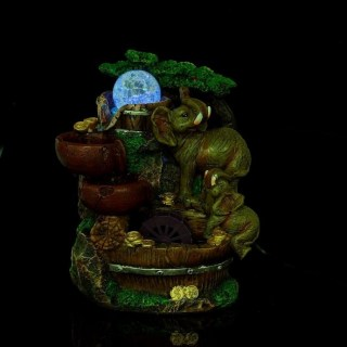 Фонтан настольный «Счастливые слоны» с подсветкой купить в Минске +375447651009