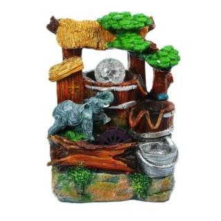 Фонтан декоративный «Слон у водопоя» световой купить в Минске +375447651009