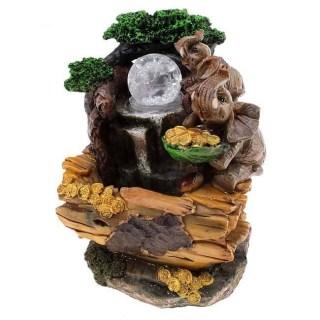 Фонтан декоративный «Слоны с золотыми монетами» световой купить в Минске +375447651009