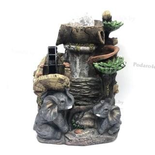 Фонтан декоративный «Слоны» световой купить Минск