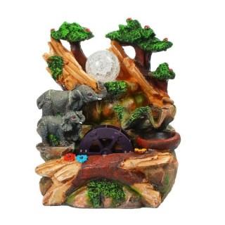 Фонтан декоративный «Слонята у водопада» световой купить в Минске +375447651009