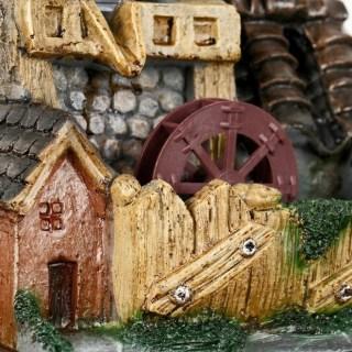 Фонтан декоративный «Усадьба с черепичной крышей» с подсветкой купить в Минске +375447651009
