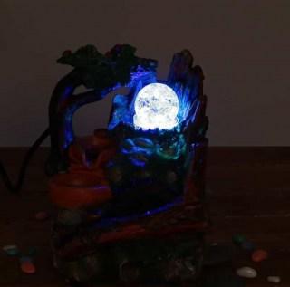 Фонтан декоративный 'Водяная мельница' световой Минск