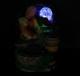 Фонтан декоративный «Зайка в лесу» с подсветкой купить в Минске +375447651009
