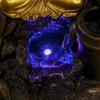 Фонтан декоративный «Золотой Будда» световой купить в Минске +375447651009