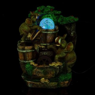 Фонтан декоративный настольный  'Слоны с монетами у водопада' световой Минск