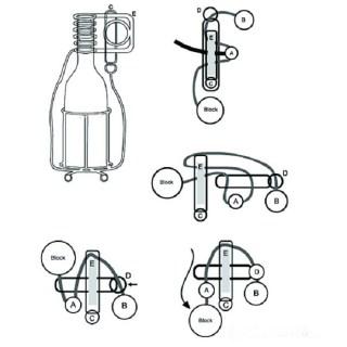 Головоломка на бутылку металлическая купить в Минске +375447651009