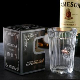 Граненый стакан с пулей «Непробиваемый» в Минске +375447651009