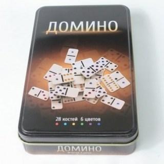 Игра «Домино» в металлической коробке купить в Минске +375447651009