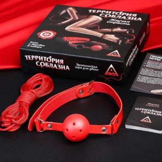 Игра с карточками «Территория соблазна. Жгучая страсть» с кляпом и веревкой купить в Минске +375447651009