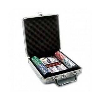 Игровой набор «Покер» 100 фишек в металлическом кейсе  купить в Минске +375447651009