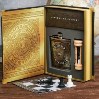 Игровой набор с фляжкой «Лучший из лучших» в подарочной коробке купить в Минске +375447651009