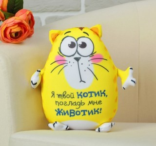 Игрушка - антистресс «Я твой котик, погладь мне животик!» купить Минск +375447651009