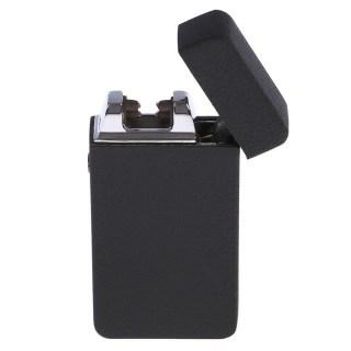 Импульсная зажигалка USB «Honglu» черный металлик купить в Минске +375447651009
