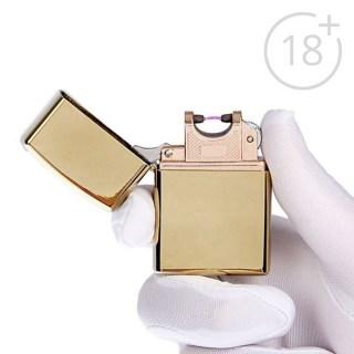 Импульсно-дуговая зажигалка USB золото Минск +375447651009
