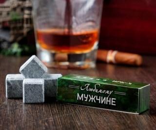 Камни для виски «Любимому мужчине» 4 шт. купить в Минске +375447651009