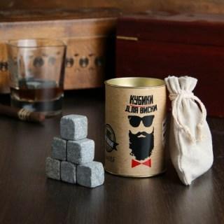Камни для виски в тубусе «Настоящий мужчина» 9 шт.  купить в Минске +375447651009