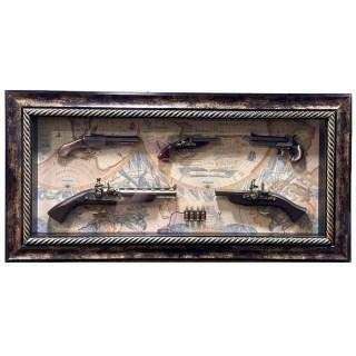 Картина с оружием «Коллекция оружия на карте мира» вид 2 купить в Минске +375447651009