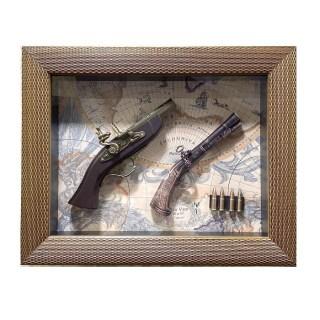 Картина с сувенирным оружием «Мушкеты и патроны» купить в Минске +375447651009