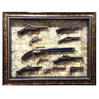 Картина с сувенирным оружием на карте мира «Коллекция оружия» купить в Минске +375447651009
