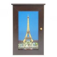 Ключница деревянная «Ночной Париж» купить в Минске +375447651009