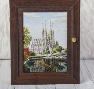 Ключница деревянная «Barcelona» 3 крючка купить в Минске +375447651009