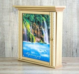 Ключница деревянная «Мир Вашему дому» 7 крючков купить в Минске +375447651009
