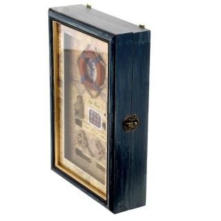 Ключница деревянная «Морское путешествие» синяя Минск +37547651009