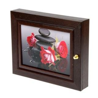 Ключница деревянная «Нежные розы» купить в Минске +375447651009
