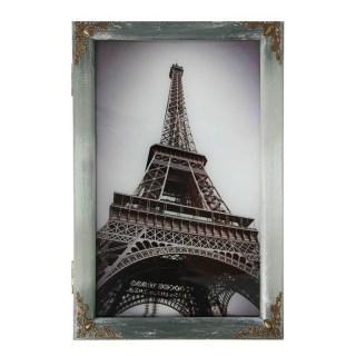 Ключница деревянная «Париж» ретро купить