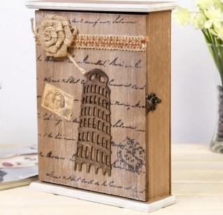 Ключница деревянная «Пизанская башня» 6 крючков купить в Минске +375447651009