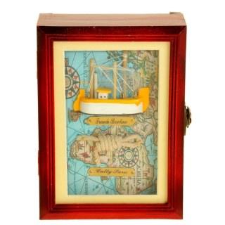 Ключница деревянная «Рыбацкое судно»4 крючка купить в Минске +375447651009