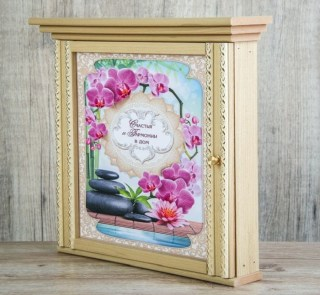 Ключница деревянная «Счастья и гармонии» 7 крючков купить в Минске +375447561009