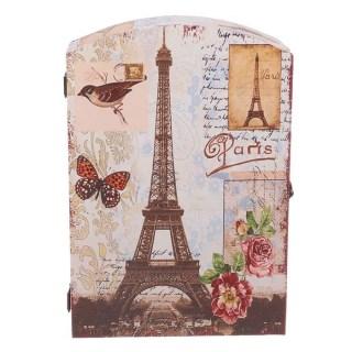 Ключница деревянная «Весна в Париже» купить в Минске +375447651009