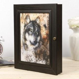 Ключница деревянная «Волк» купить в Минске +375447651009