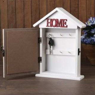 Ключница настенная деревянная «HOME» купить в Минске +375447651009