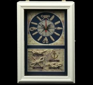 Ключница с часами «Морские узлы на карте» купить в Минске +375447651009