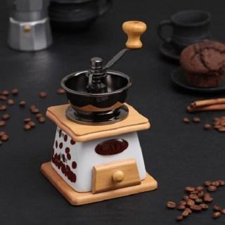 Кофемолка ручная «Coffee Beans» светлая купить в Минске +375447651009