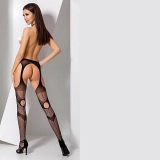 Чулки под кожу «Carolina» черные купить в Минске +375447651009