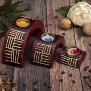 Коллекция подсвечников «Лилии» из 3 шт  купить в Минске +375447651009