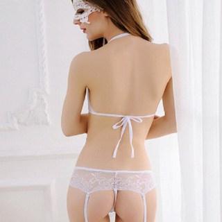 Комплект белый «Нежность» бюст+трусики-пояс размер S купить в Минске +375447651009