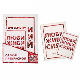Комплект:ежедневник+обложка «Живи, люби, сияй» купить в Минске +375447651009