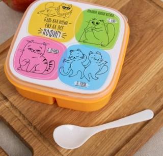Контейнер для еды «Будь как кот» купить в Минске +375447651009