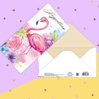 Конверт для денег «Фламинго»  купить в Минске +375447651009