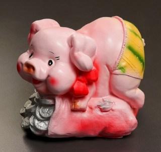 Копилка «Богатая свинка» микс купить в Минске +375447651009